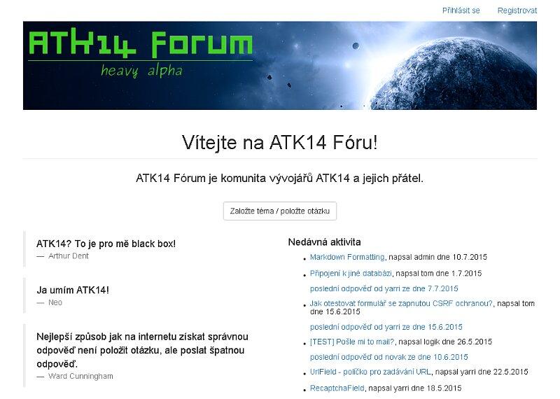 Screenshot: ATK14 Forum
